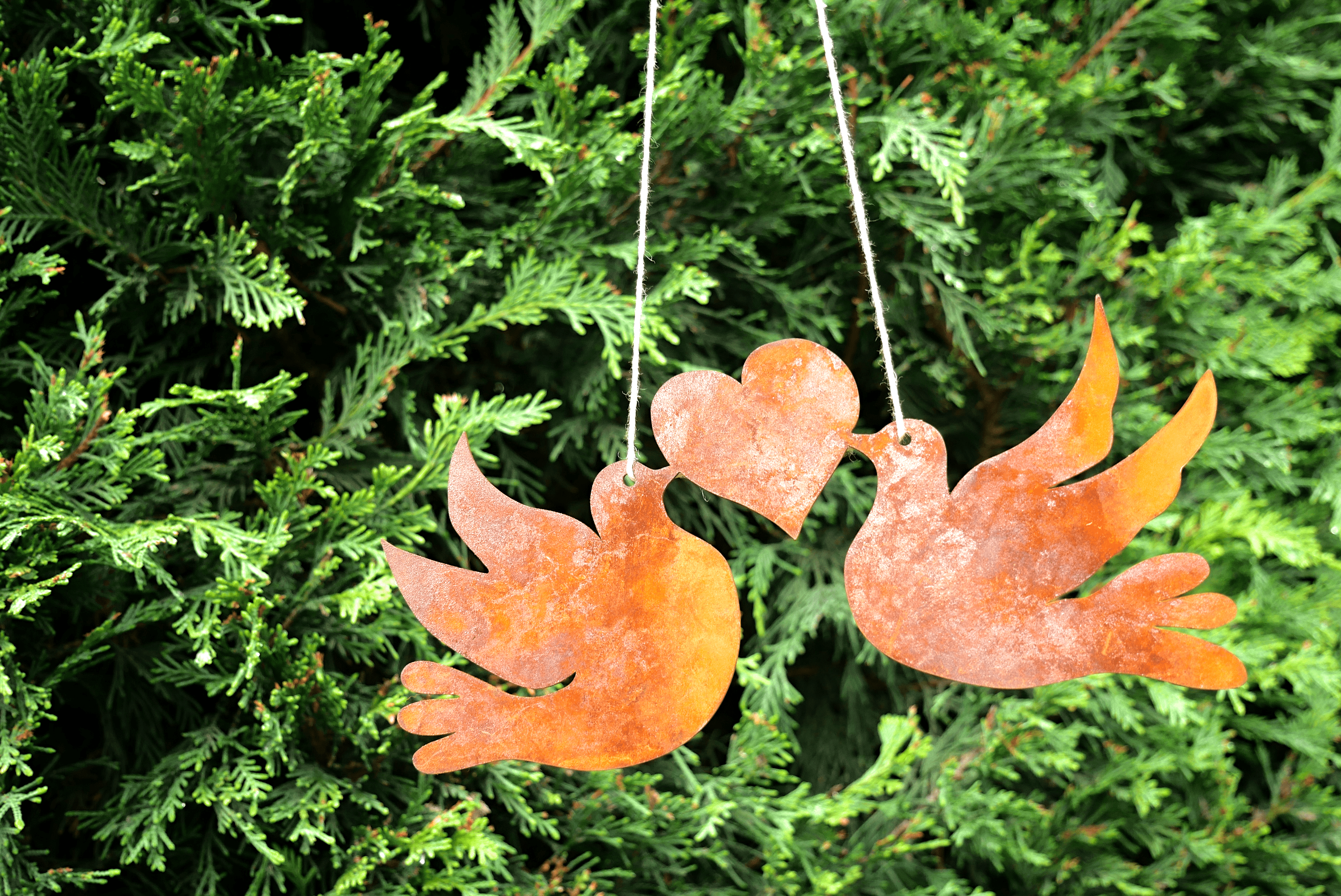 "Corten decoration ""DOVES"""