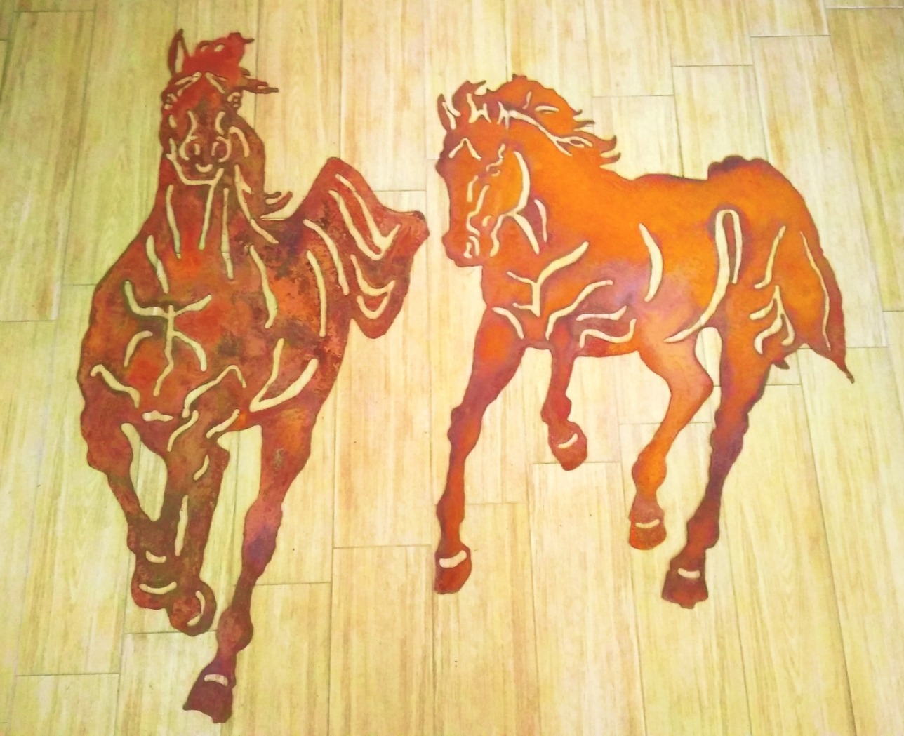 "Corten decoration ""HORSES"""