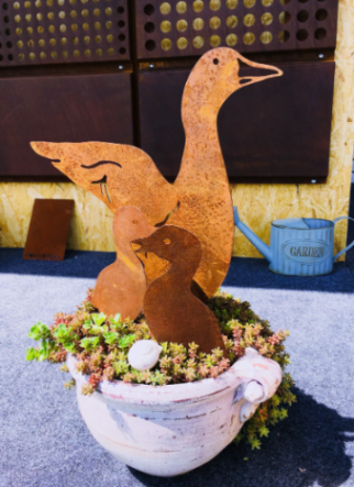 "Corten decoration ""GOOSE"""