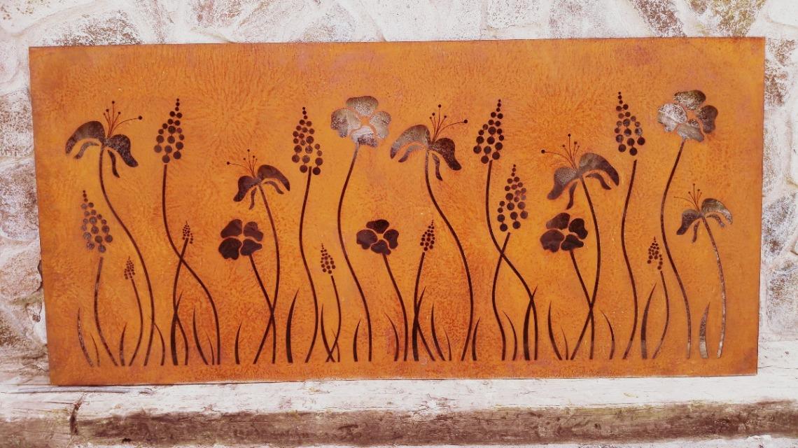 zastena corten kvety