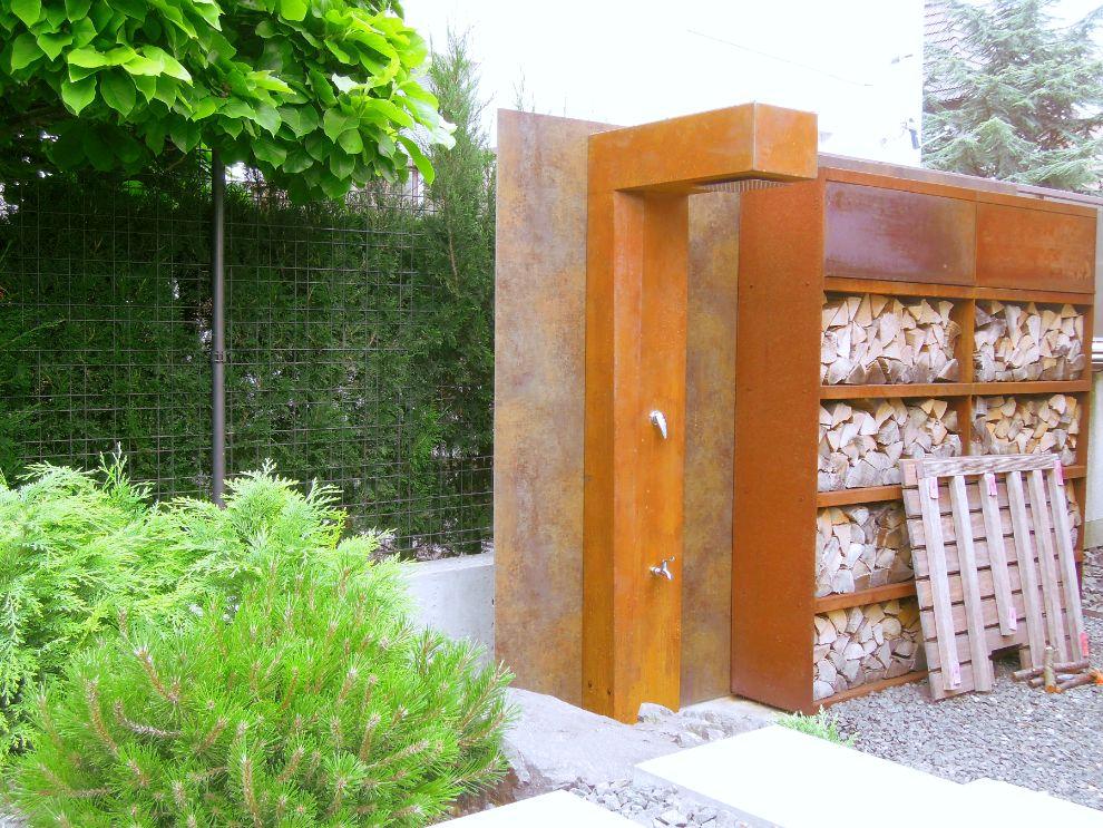 zahradna vodna sprcha z cortenu foxysteel